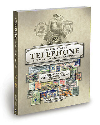 """""""NEW"""" U.S. Stamp Catalog Telephone Philately Stamps Franks Book & Price Guide"""