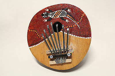 Ap Hand Crafted Coconut Shell Kalimba 7 Keys Gecko Artwork Mbira Thumb Piano