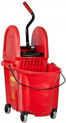 Rubbermaid Commercial WaveBrake Mop Bucket With Down-Press Wringer Combo, 35