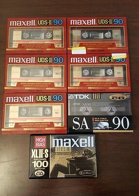 Maxell UDS-II/XL-IIS TDK SA 90 - High Quality NEW Cassette Tape Lot of 7 Type II