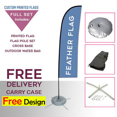 Printed FEATHER FLAG 3m - Flying Banner/Exhibition/Advertising/Outdoor Display