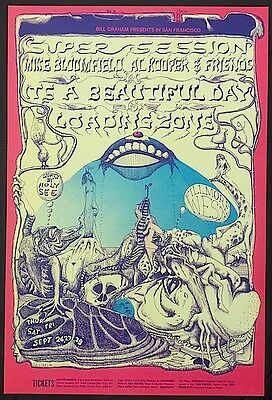 MINT Super Session It's A Beautiful Day 1968 BG 138 Fillmore Poster