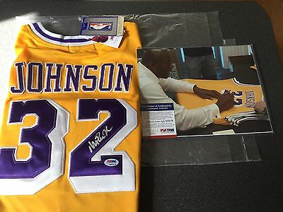 Magic Johnson Signed Jersey (PSA DNA Authentic) - *Last One!*