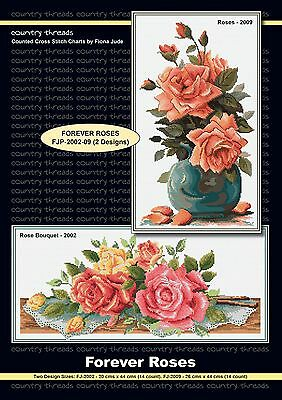 Forever Roses - 'Combo' Cross Stitch Chart from Country Threads. 2 Designs