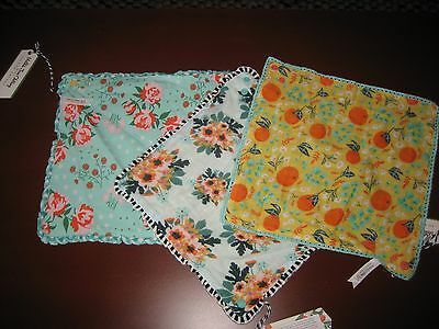 ~MATILDA JANE~Once Upon A Time W/ Joanna Gaines Set Of 3 Reversible Bibs~NWT~