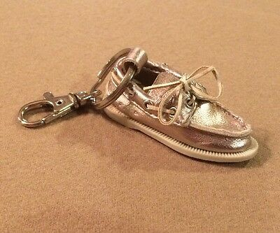 Sperry Top Sider Promo Keychain Key Chain Sparkling Rose Gold LAST ONE RARE