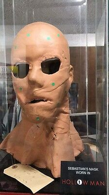 Screen Used Kevin Bacon Hollow Man mask with stand, Plaque, And Production Tag
