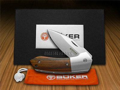 BOKER TREE BRAND Cocobolo Wood Solo Classic Liner Lock Pocket Knife Stainless