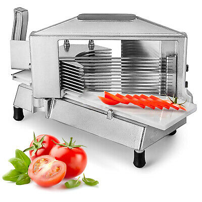"Commercial Tomato Slicer Cutter 3/16"" Industrial Aluminum Frame Kitchen Great"