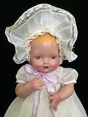 "RARE DOLL!!! 20"" Composition Baby Blossom by Kallus, Original Clothing!"