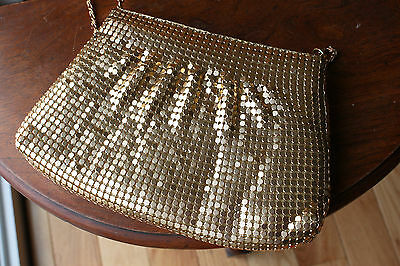 Vintage Bags by Marlo Gold Metal Mesh Chain Evening Bag Purse