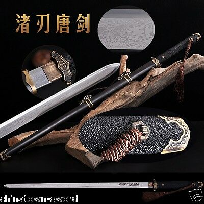 Top Quality Tang Dao Sword Traditional Refinings pattern steel sharp blade #0052
