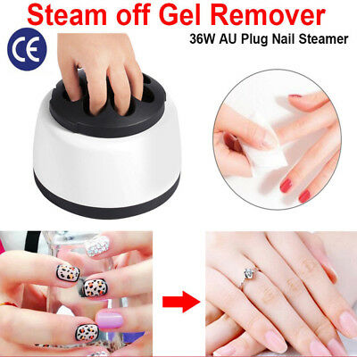 Steam Nail Gel Polish Remover Machine Gel Nail Steamer Cleaner Home Salon AU PLU