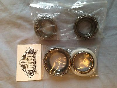 Custom Schwinn bicycle bearing cups black chrome lowrider style made by d-twist