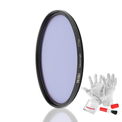 NiSi 77mm Light Pollution Filter Natural Night Filter HD Optical Glass+Rich Gift