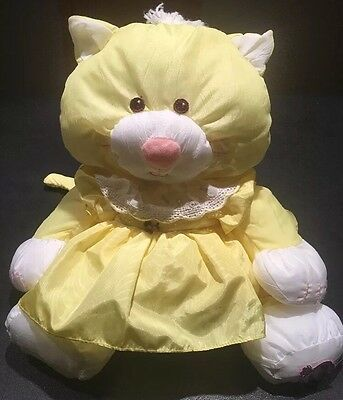Vintage Fisher Price Puffalump #8002.Cat Kids Toy & Dress.1986.Clean.No tears.