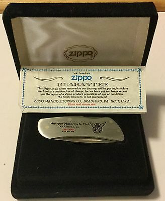 Zippo AMCA American Motorcycle Club Of America Knife Limited Edition Of 320