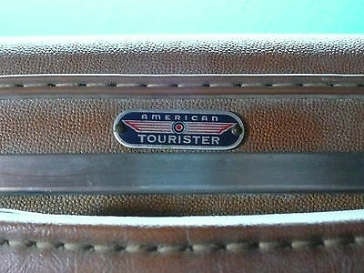 American Tourister Vintage Suitcase Over Night Train Travel Case Luggage