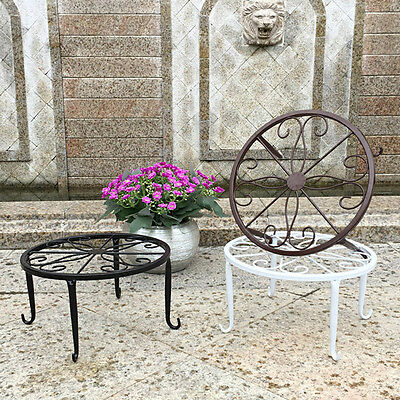 Metal Plant Stand Garden Decorative Planter Holder Flower Pot Shelf Rack Display
