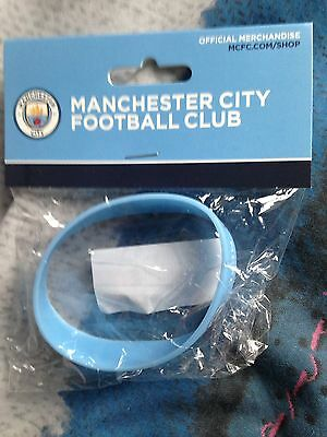 Manchester City Wristband Official Silicone Wrist Band Man FC Football Club