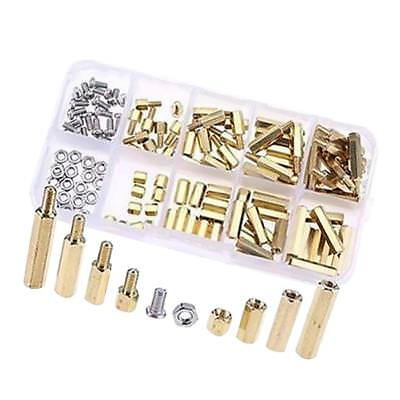 120 pcs M3 Brass Spacer Male-Female Spacers Hex Stand-Off Pillars DIY Kit