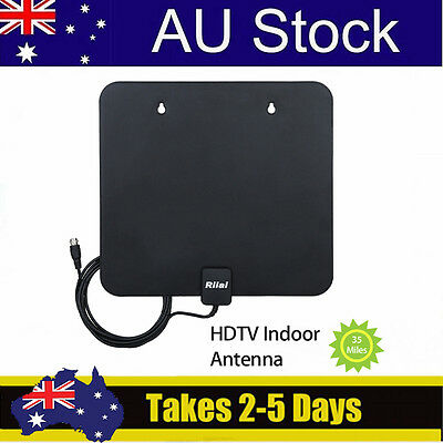 LOCAL!! HDTV Indoor Antenna UHF VHF 5 dBi 10 ft cable HD 1080P For Digital TV