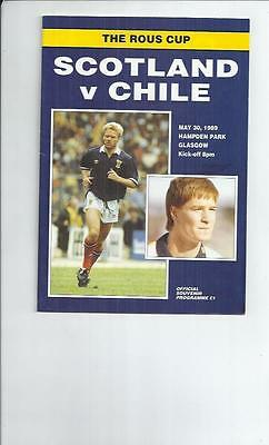 Scotland v Chile Football programme 1989