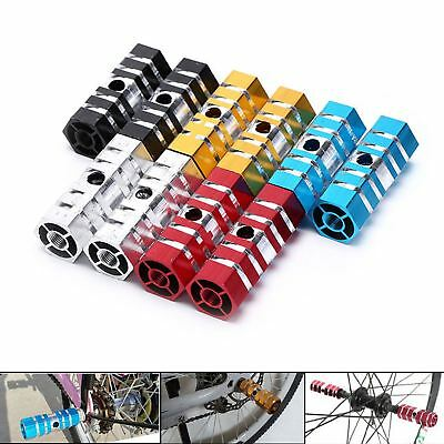 2 x Alloy Hexagonal BMX Axle Foot Stunt Pegs bike bicycle cycling