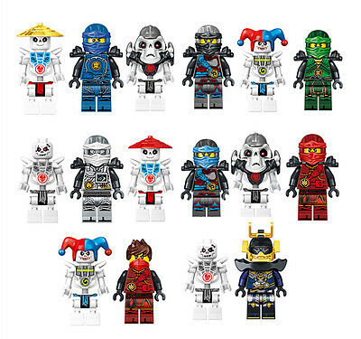 2017 16 PCS Ninjago Skeleton Ninja Mini Figures Building Blocks Toys