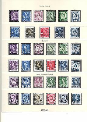 1958-70 (C48) Regional Issues Complete 73 Stamps Fine Used Inc Chalky  3 Scans
