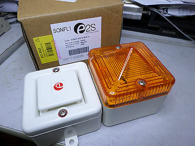 E2S - ALARM SOUNDER and AMBER XENON BEACON - 12DC - SONFL1DC12W/A-H
