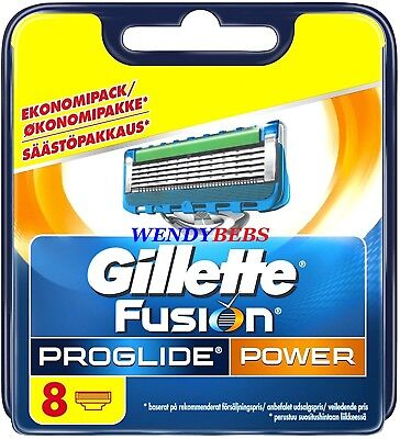 8 Original Gillette Fusion Proglide Power Shaving Razor Cartridge Blades Kk