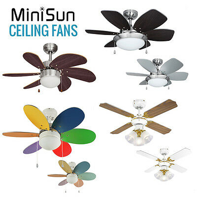 MiniSun Modern 30 Inch Ceiling Fans with Lights Cooling System Light Fitting