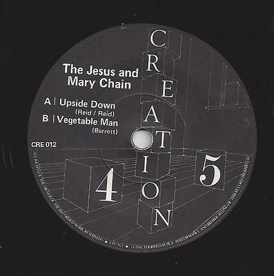JESUS AND MARY CHAIN Upside Down/Vegetable Man - EX Cond Debut Creation 1984 7""