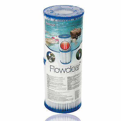 2 x Bestway Size II Filter Cartridges for Swimming Pools and Older Lay-z-Spas
