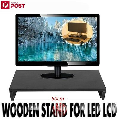 1 Layer LCD Monitor Stand Riser Desktop PC Computer Display Organizer Rack BLK
