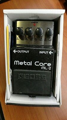 Boss Ml-2 Metal Core W/box Guitar Pedal Pedale Chitarra Wwship