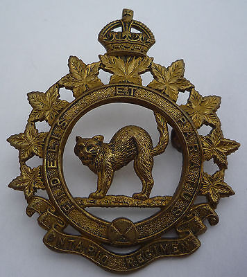Canadian Ontario Regiment Cap Badge