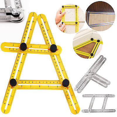 Angle izer Multi-Angle Ruler Template Tool Steel / ABS Four-sided Tile Flooring