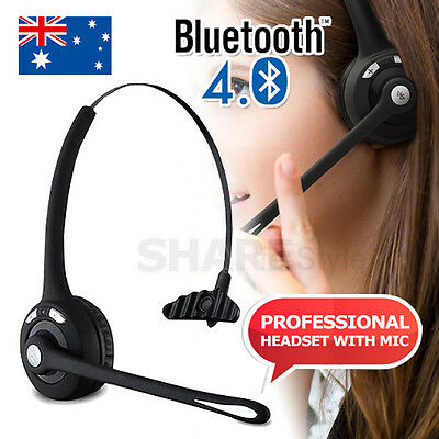 Universal Bluetooth Wireless Headset Headphone Mic for Samsung HTC iPhone 7 6 6S