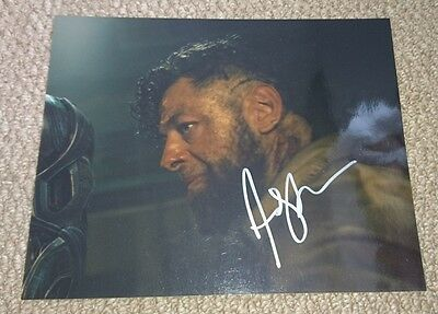 Andy Serkis signed 10x8 photo PROOF AFTAL