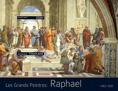 Togo 2014 Raphael Painter Paintings Italy S/S TG14318