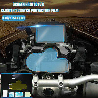 Clear Cluster Scratch Protection Screen Protector Guard Film For BMW R1200GS ADV