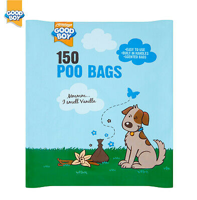 Armitage Goodboy Vanilla Scented Dog Puppy Poo Bags With Handle 5/10 X 150 Bags