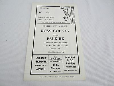 1974-75 SCOTTISH  CUP 3RD ROUND ROSS COUNTY v FALKIRK