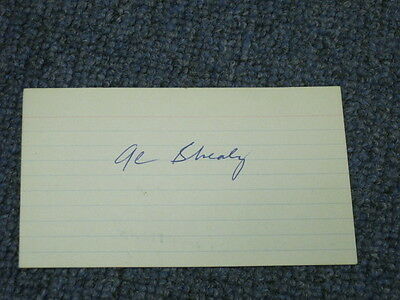 Al Shealy Autographed Index Card