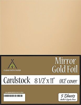 Mirror Metallic Blue Cardstock .012 Thick 12 x 12 inch 5 Sheets