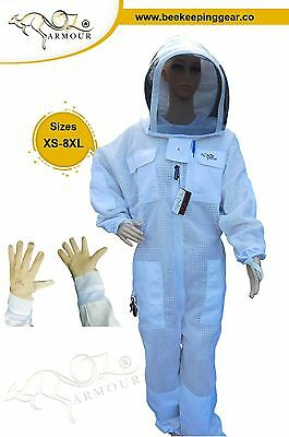 "Beekeeping Suit ""oz Armour"" Ventilated Three Layer Mesh Ultra Cool Fencing Veil"