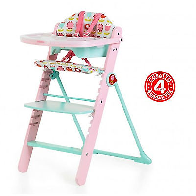 New Cosatto Waffle Highchair Padded Baby Wooden High Chair Heidi