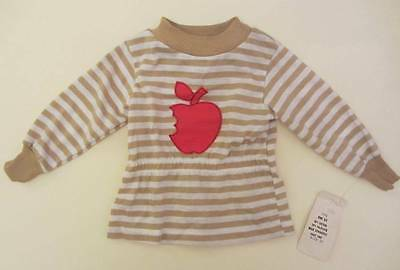 boys vintage t shirt top red apple logo 18 months 70's nwt's
